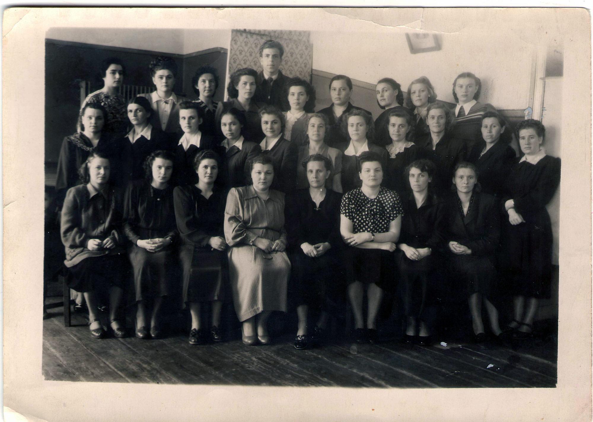 Коллектив учителей 1952 г.
