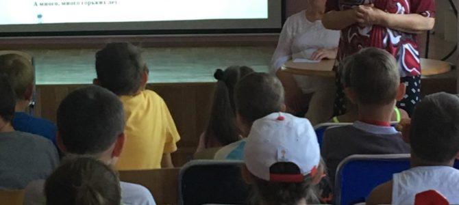 Волонтёры «серебряного» возраста в гостях в летнем оздоровительном лагере