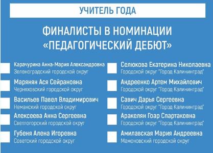 Финалисты в конкурсе «Педагогический дебют-2021»